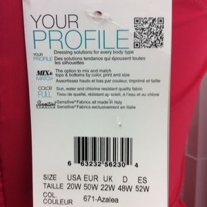 Profile By Gottex Swim - Profile by Gottex Swimtop Size 20